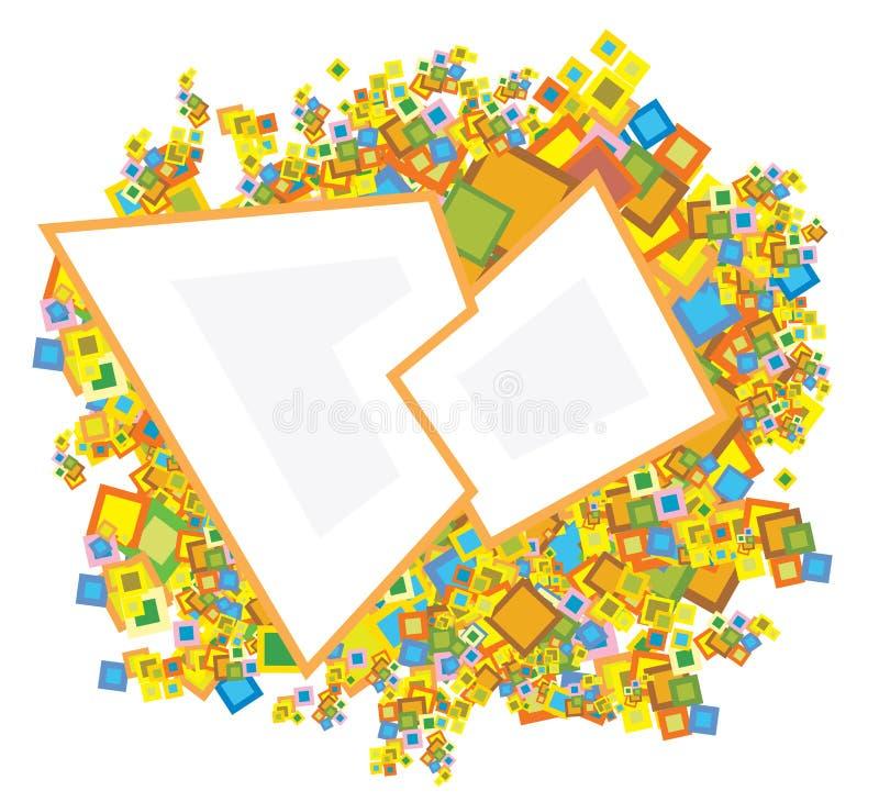 Vierkante achtergrond vector illustratie