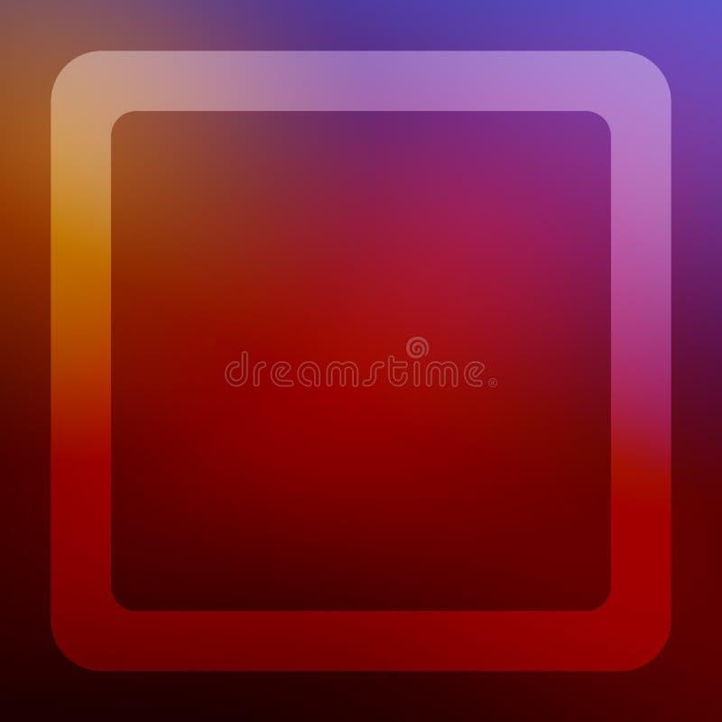 Vierkante achtergrond met vierkant kader voor de kaarten van de Kerstmisgroet en andere wensen Voor druk en Web royalty-vrije illustratie