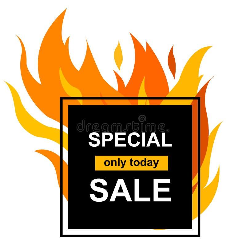 Vierkante banner met Speciale verkoop royalty-vrije illustratie