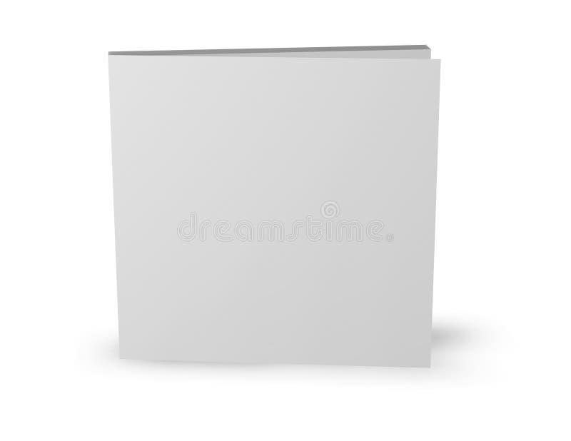 Vierkante boekjesmalplaatje status geïsoleerd op wit royalty-vrije illustratie