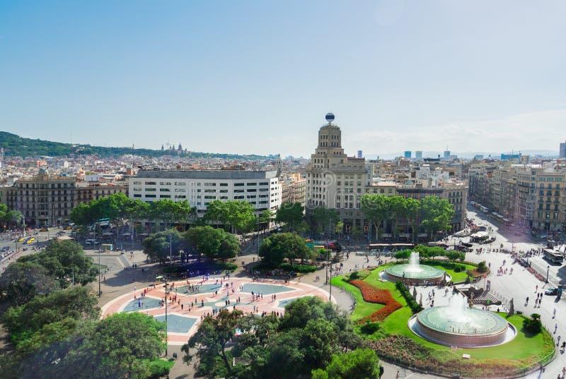 Vierkante Catalunia, Spanje royalty-vrije stock fotografie
