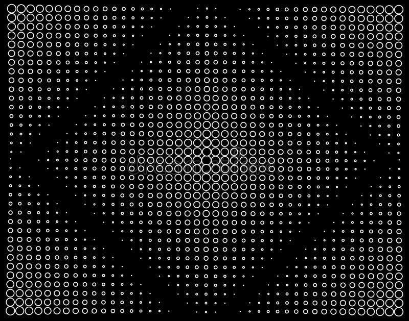Vierkante cirkel stock illustratie