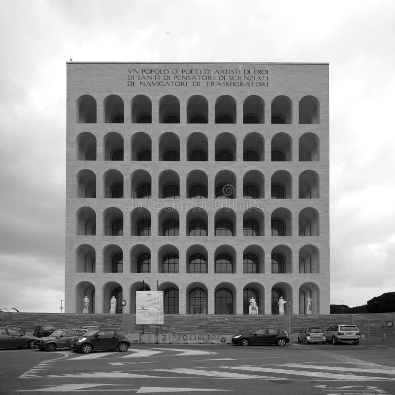 Vierkante Colosseum stock foto's