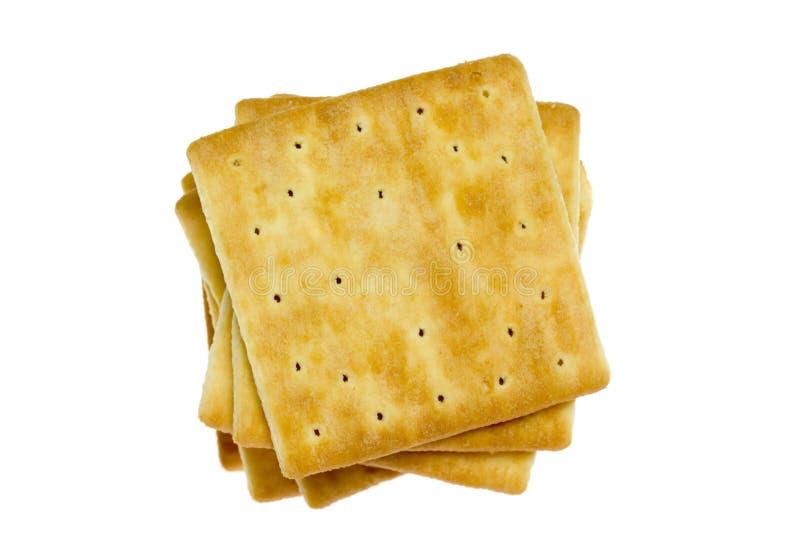 Vierkante crackers stock foto's