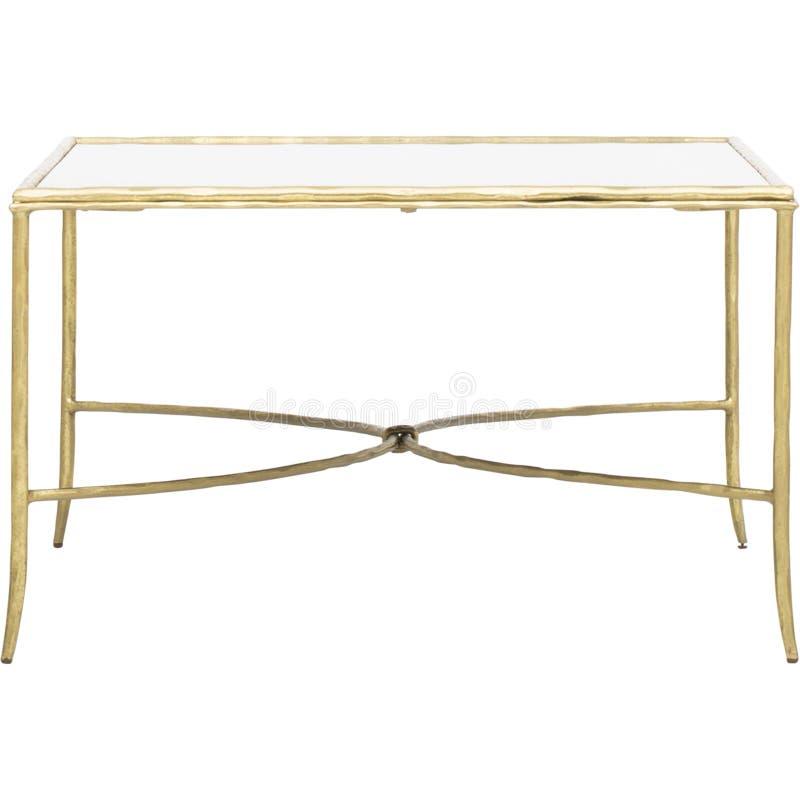 Vierkante Duidelijke Acryl Moderne Koffietafel, van het de koffietafel uitstekende glas van het watervalglas de watervalkoffietaf royalty-vrije stock afbeeldingen