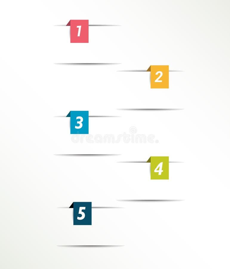 Vierkante eenvoudig kleur genummerde referenties stock illustratie