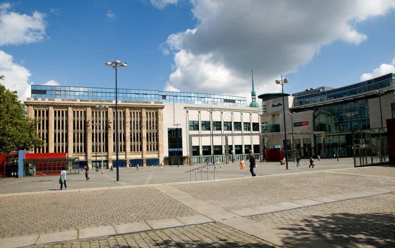 Vierkante Hansaplatz in Dortmund royalty-vrije stock foto's
