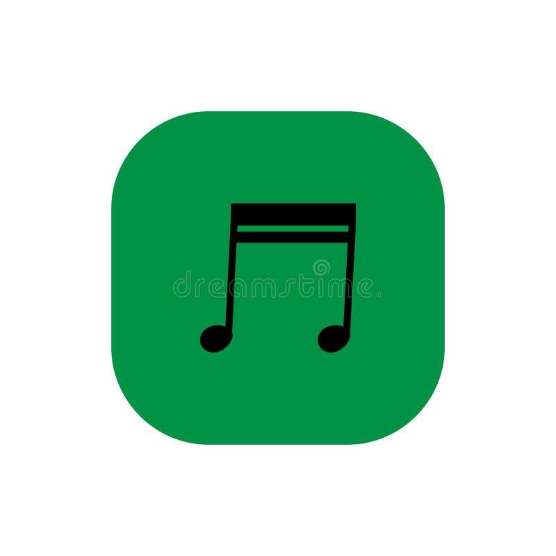 Vierkante het pictogramillustratie van de muzieknota royalty-vrije stock foto