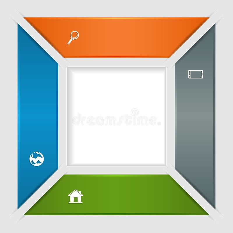 Vierkante infographic vector illustratie