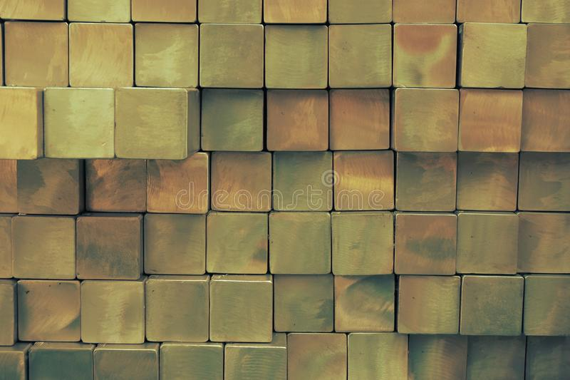Vierkante metaalbuis stock afbeelding