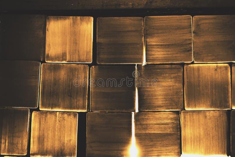 Vierkante metaalbuis stock foto