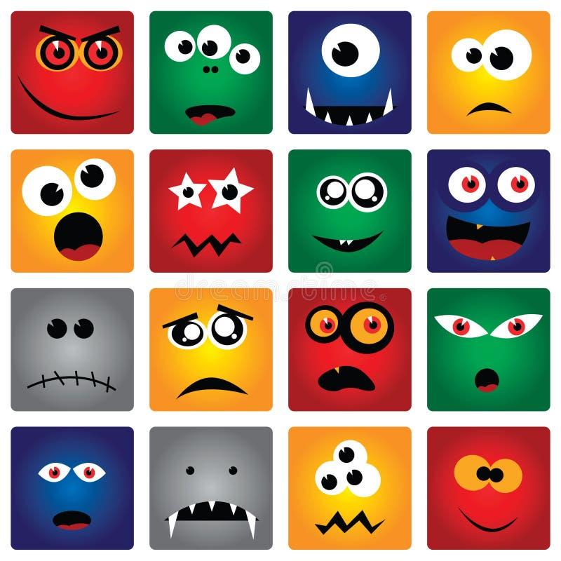 Vierkante Monsters vector illustratie