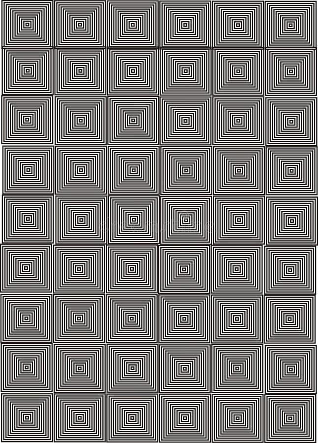 Vierkante Optische illusie stock illustratie