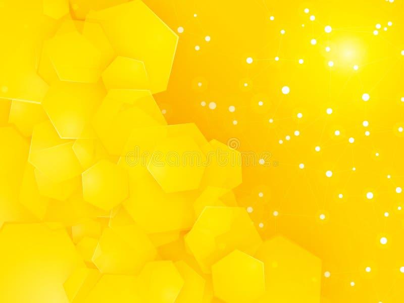 Vierkante partij gele achtergrond met witte punten vector illustratie