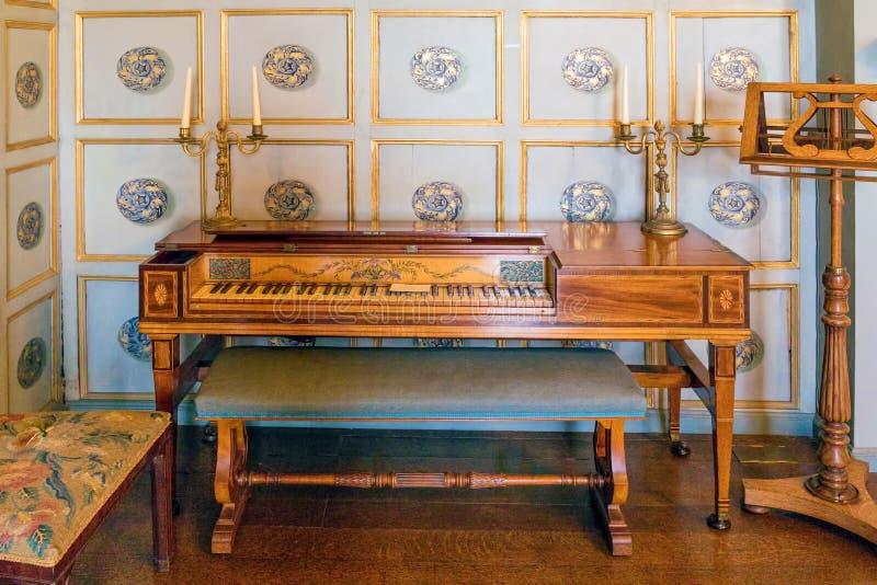 Vierkante Piano, Croft Kasteel, Herefordshire royalty-vrije stock fotografie
