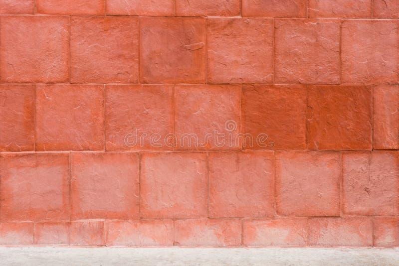Vierkante Steen Geweven Betegelde Muur stock afbeeldingen