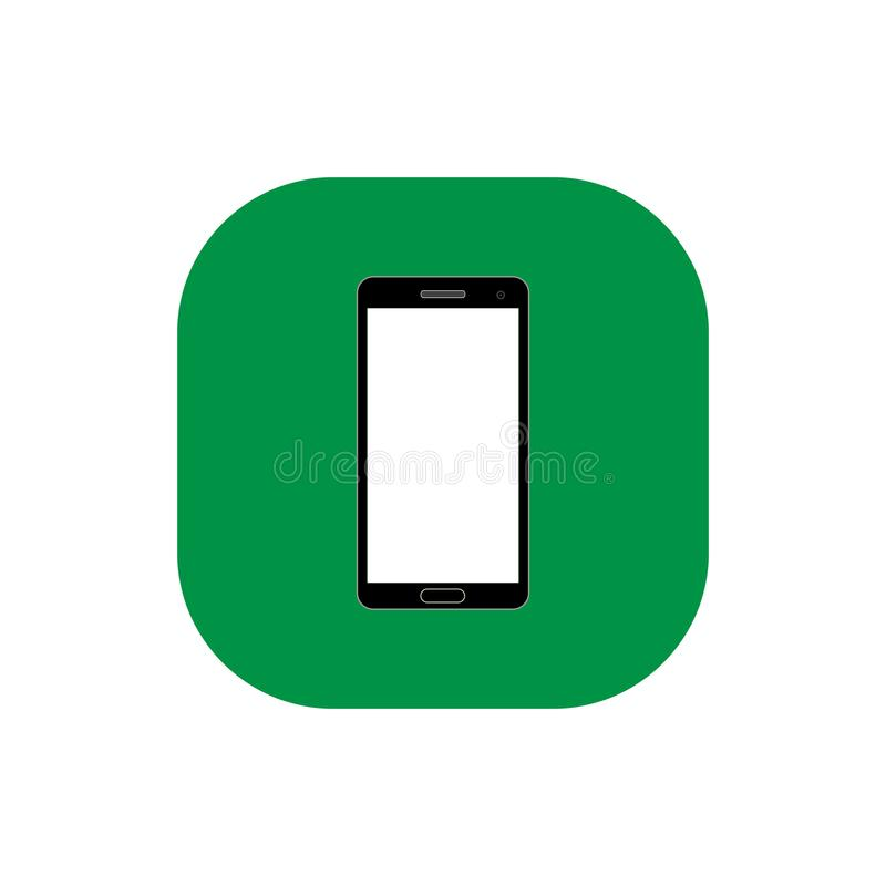 Vierkante vlakke het pictogramvector van Smartphone royalty-vrije stock afbeeldingen