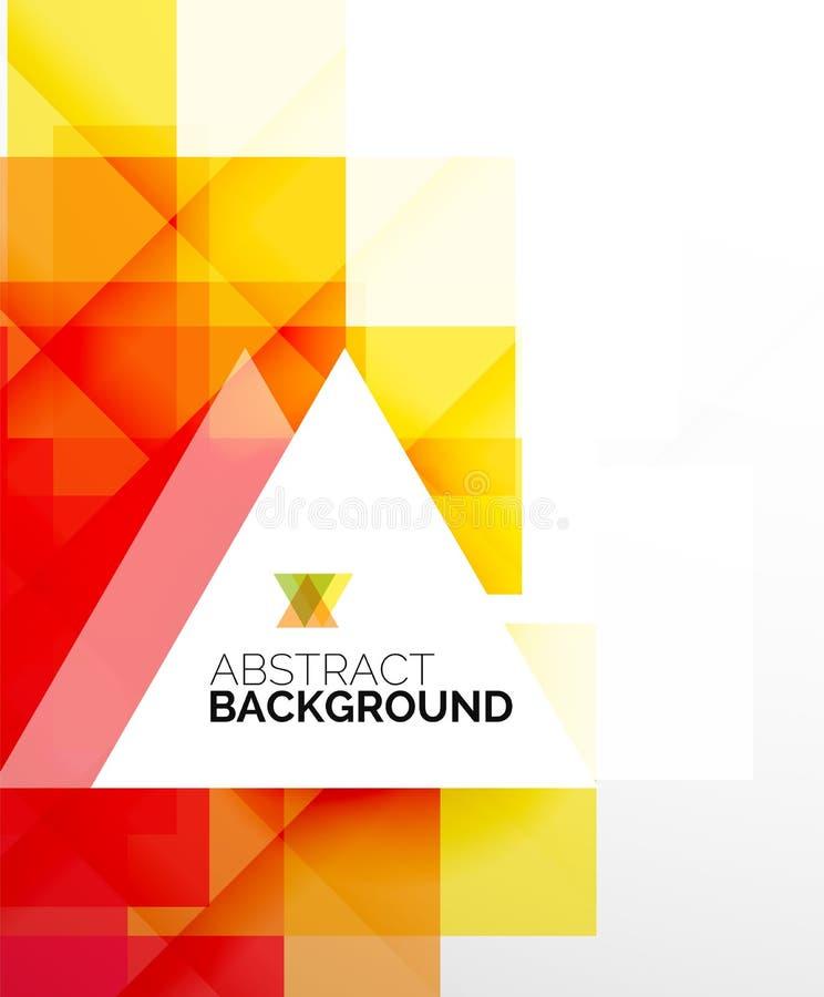 Vierkante vorm abstracte lay-outs, bedrijfsmalplaatje vector illustratie