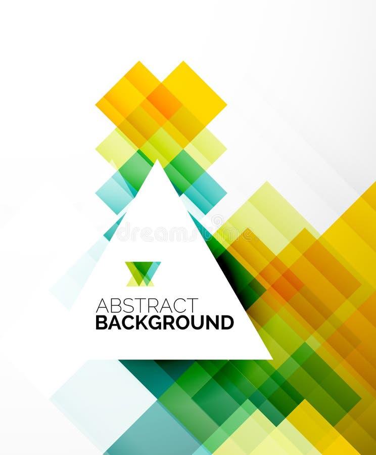 Vierkante vorm abstracte lay-outs, bedrijfsmalplaatje stock illustratie