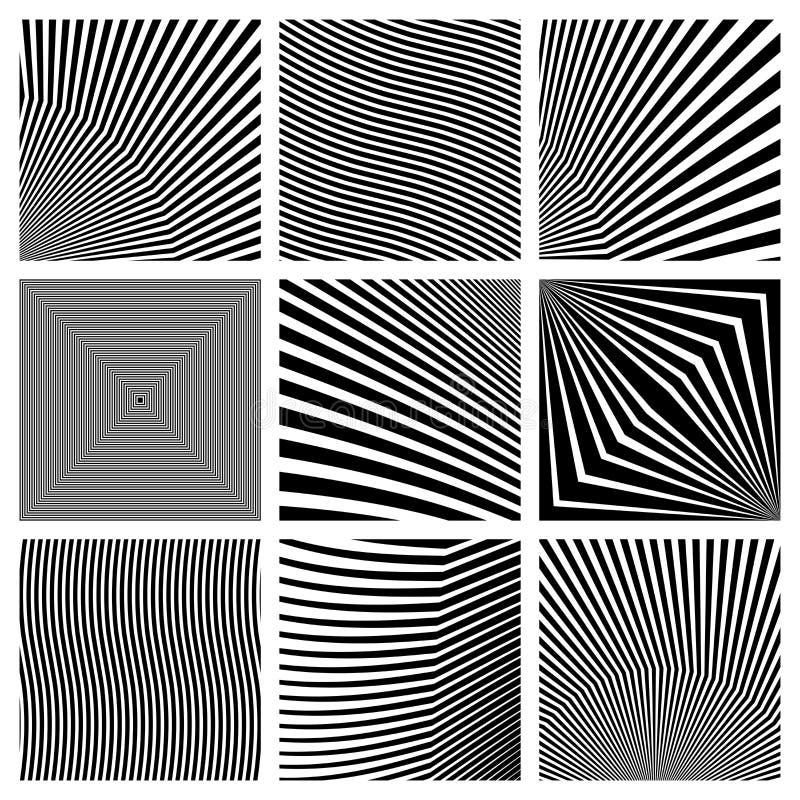 Vierkante vormen Geometrische abstracties voor achtergronden en emblemen royalty-vrije illustratie
