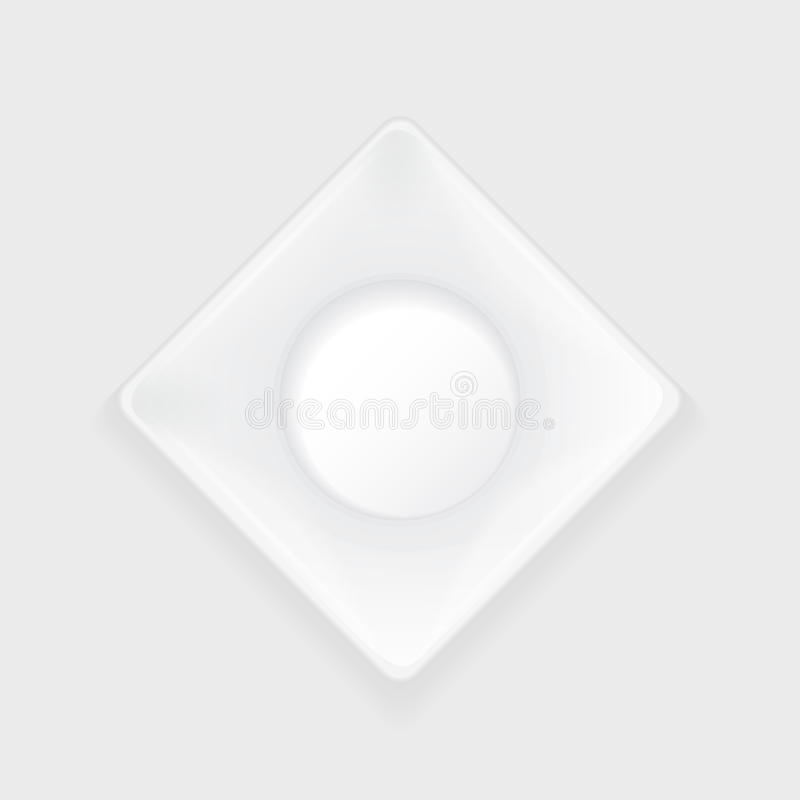 Vierkante witte plaat met scherpe hoeken royalty-vrije illustratie