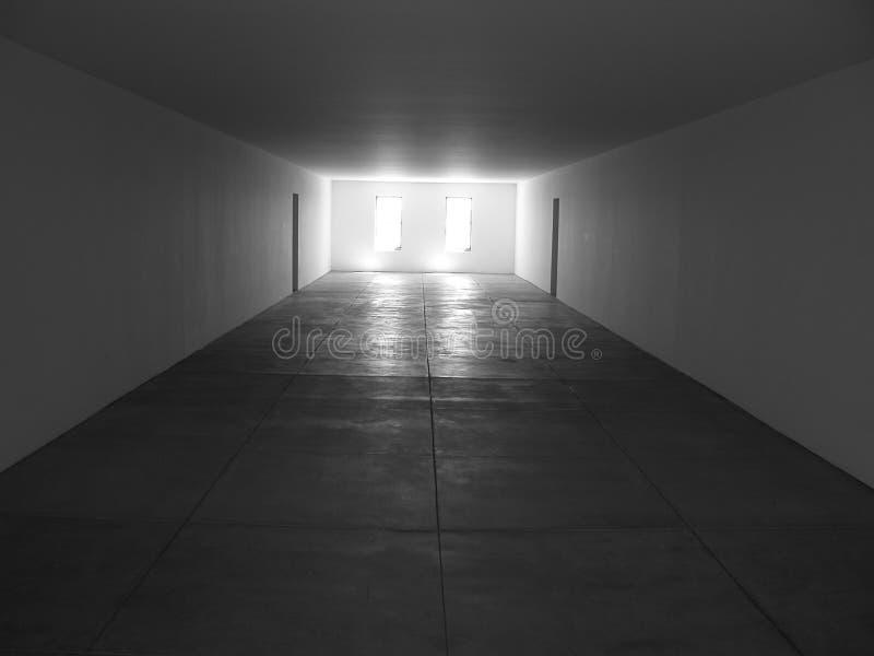 Vierkante Zaal met Vensters royalty-vrije stock afbeeldingen