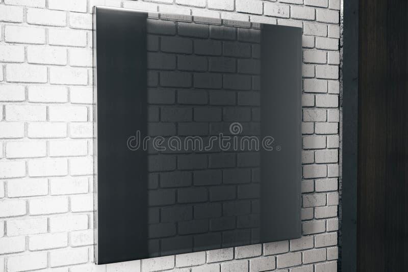 Vierkante zwarte glasplaat stock illustratie