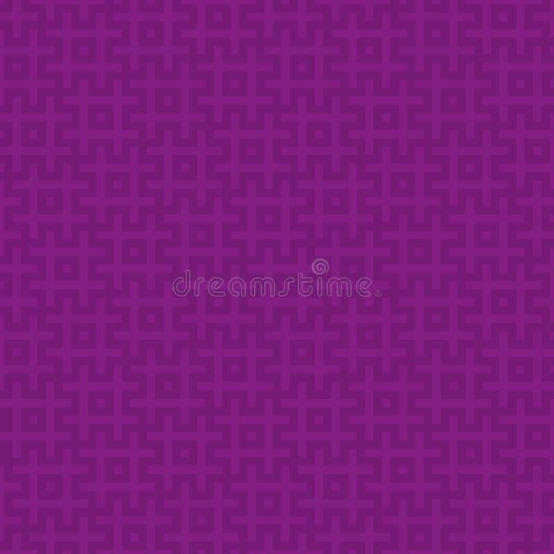 Vierkanten Modern Naadloos Patroon vector illustratie