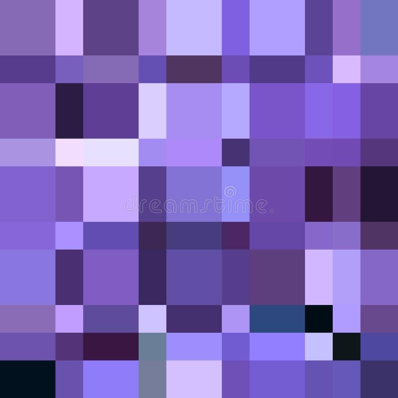 Vierkanten in velen verschillend purper tint, vierkanten en rechthoeken geometrisch patroon royalty-vrije illustratie