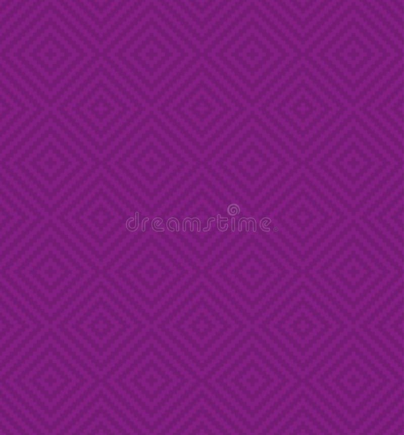 Vierkantenpixel Art Seamless Pattern royalty-vrije illustratie