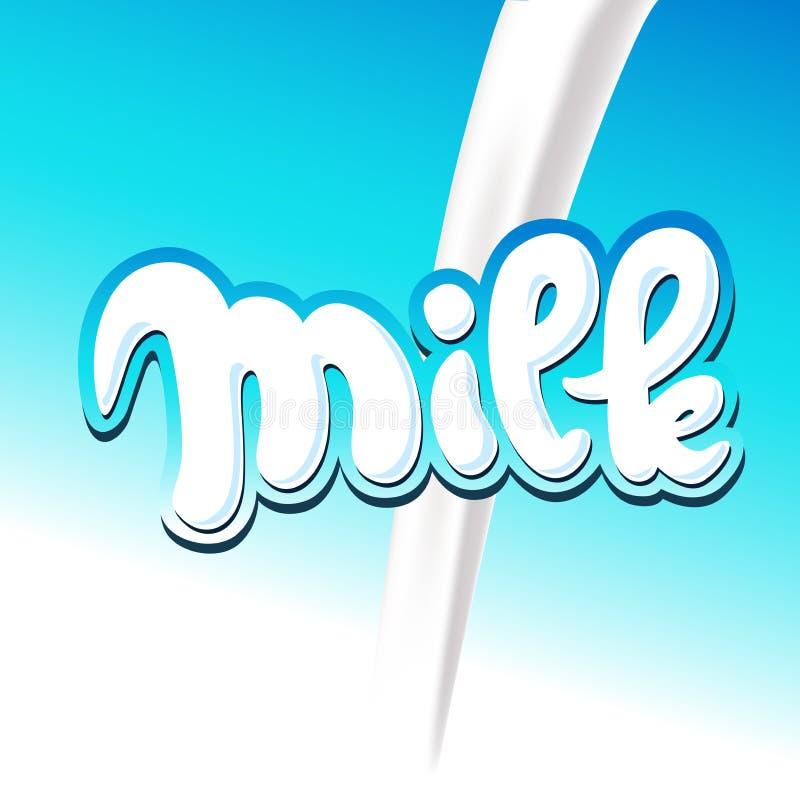 Vierta el diseño de la leche - ejemplo del vector ilustración del vector