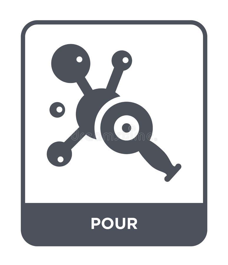 vierta el icono en estilo de moda del diseño vierta el icono aislado en el fondo blanco vierta el símbolo plano simple y moderno  stock de ilustración