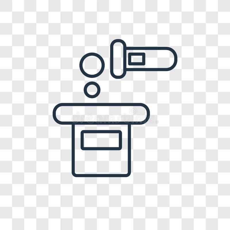 Vierta el icono linear del vector del concepto aislado en backgrou transparente stock de ilustración