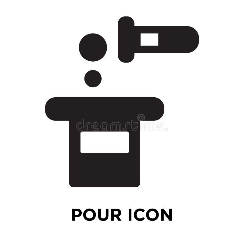 Vierta el vector del icono aislado en el fondo blanco, concepto del logotipo de P ilustración del vector
