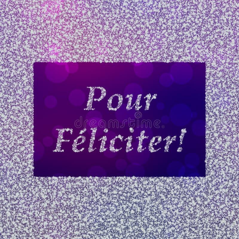 Vierta Feliciter - saludos del ` s del Año Nuevo en francés ilustración del vector