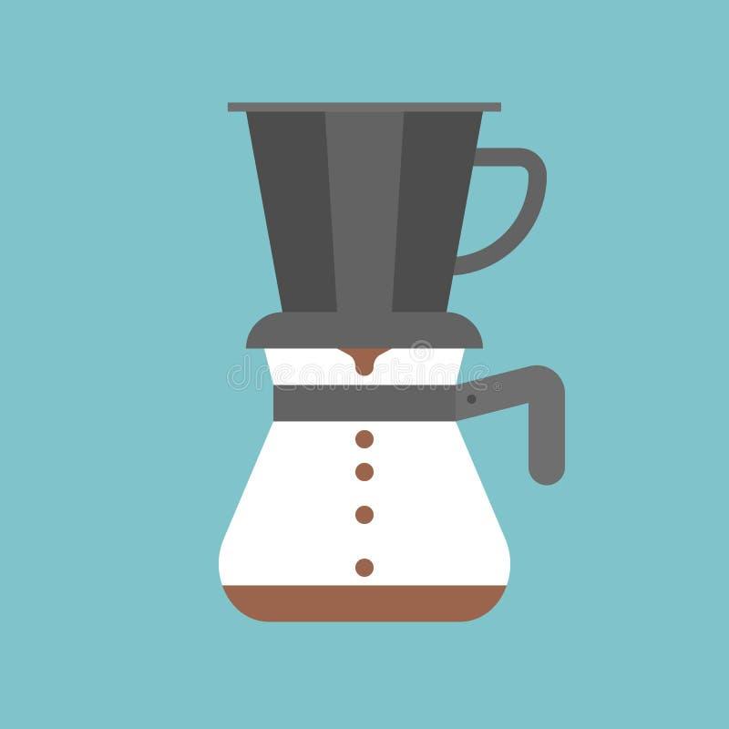 Vierta sobre fabricante de café libre illustration