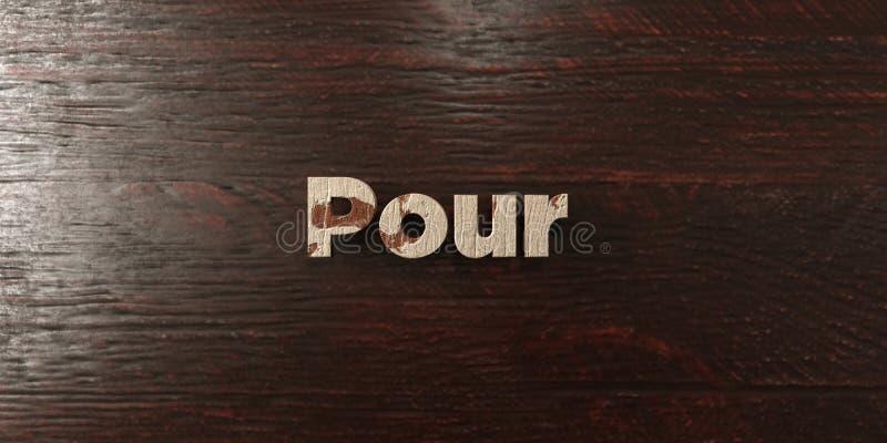 Vierta - título de madera sucio en arce - la imagen común libre rendida 3D de los derechos ilustración del vector