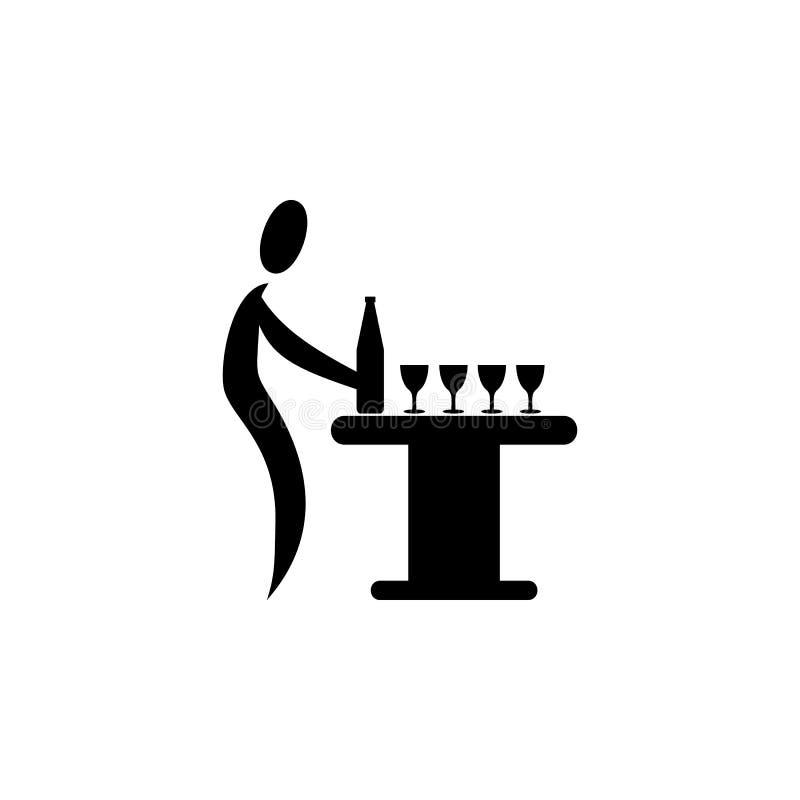 vierta un icono de la bebida Elemento del icono del partido para los apps móviles del concepto y del web Detallado vierta un icon stock de ilustración