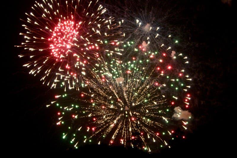 Viertel der Juli-Feuerwerke auf Cape Cod stockbilder