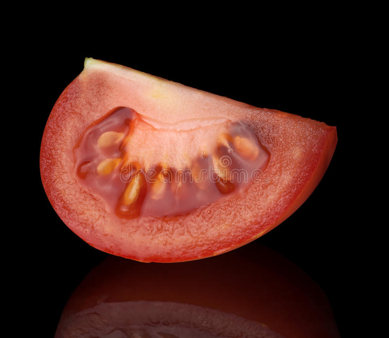 Viertel der Tomate stockbilder