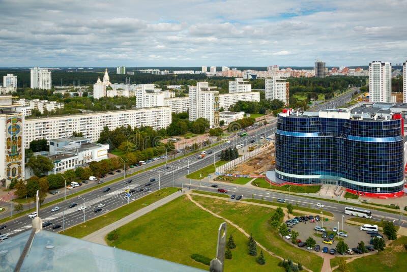 Viertel im Osten von Minsk stockbild