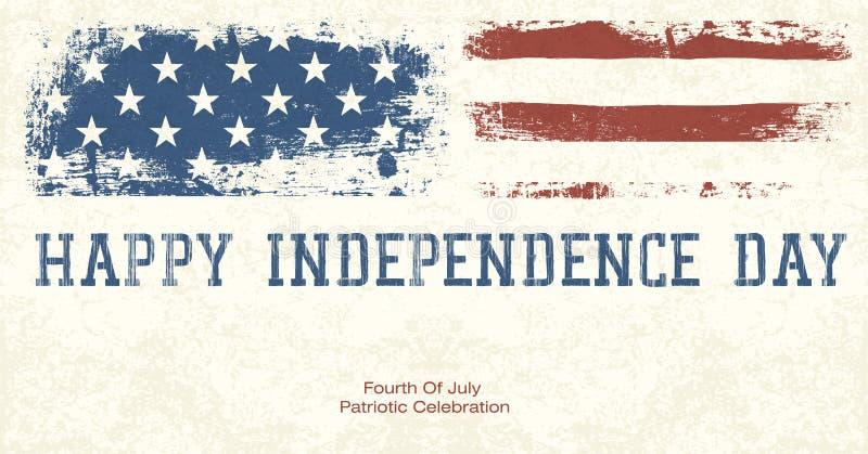 Viertel Juli-des patriotischen Feier-Hintergrundes. lizenzfreie abbildung