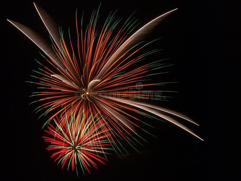 Viertel von Juli-Feuerwerk lizenzfreie stockbilder