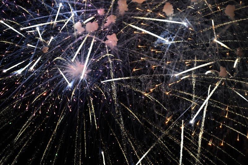 Viertel von Juli – Feuerwerke stockbild