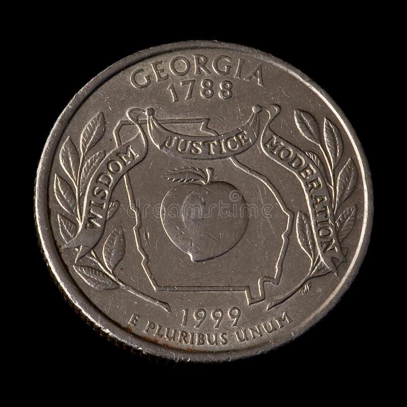 Vierteldollar von USA lizenzfreie stockfotografie