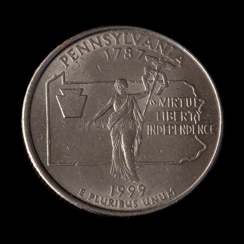 Vierteldollar von USA lizenzfreies stockbild
