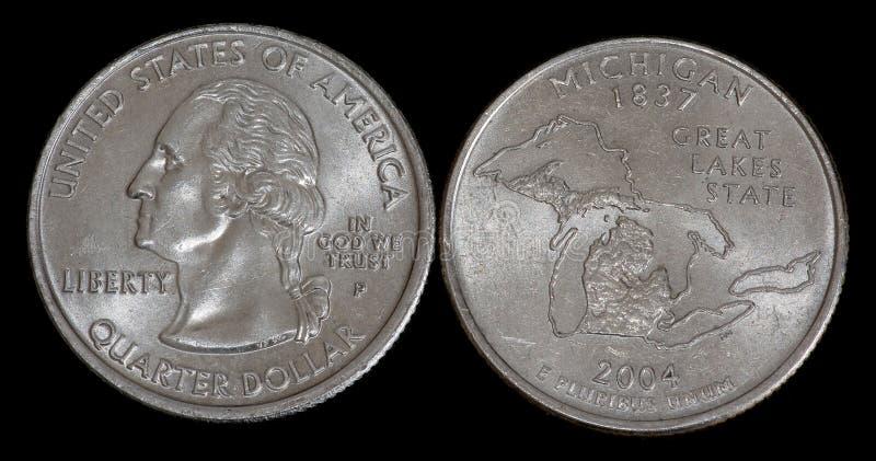 Vierteldollar von USA lizenzfreies stockfoto