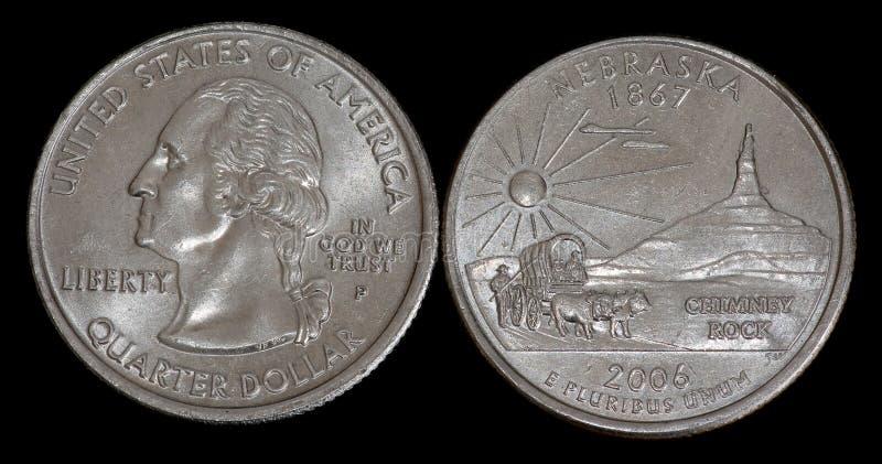 Vierteldollar von USA lizenzfreie stockbilder