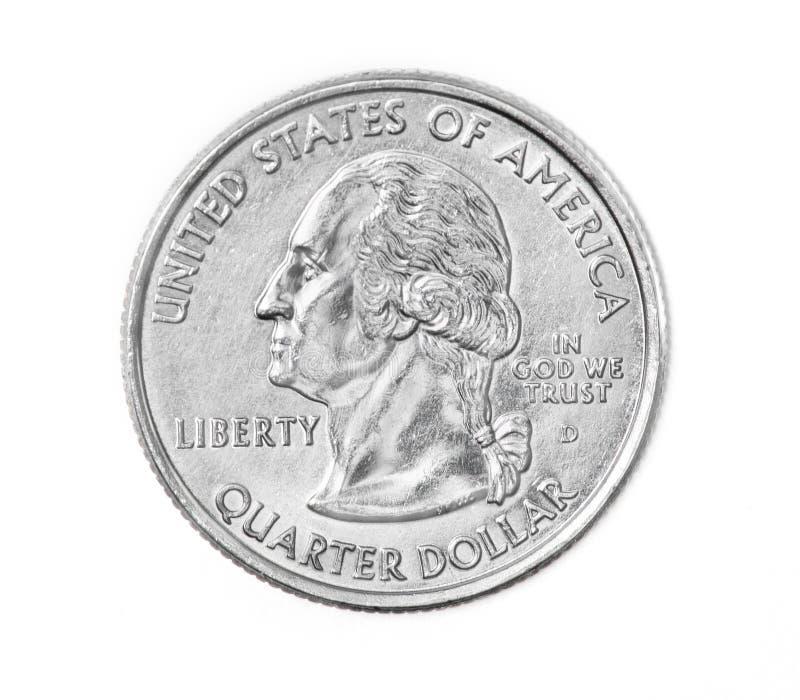 Viertelmünze stockbild