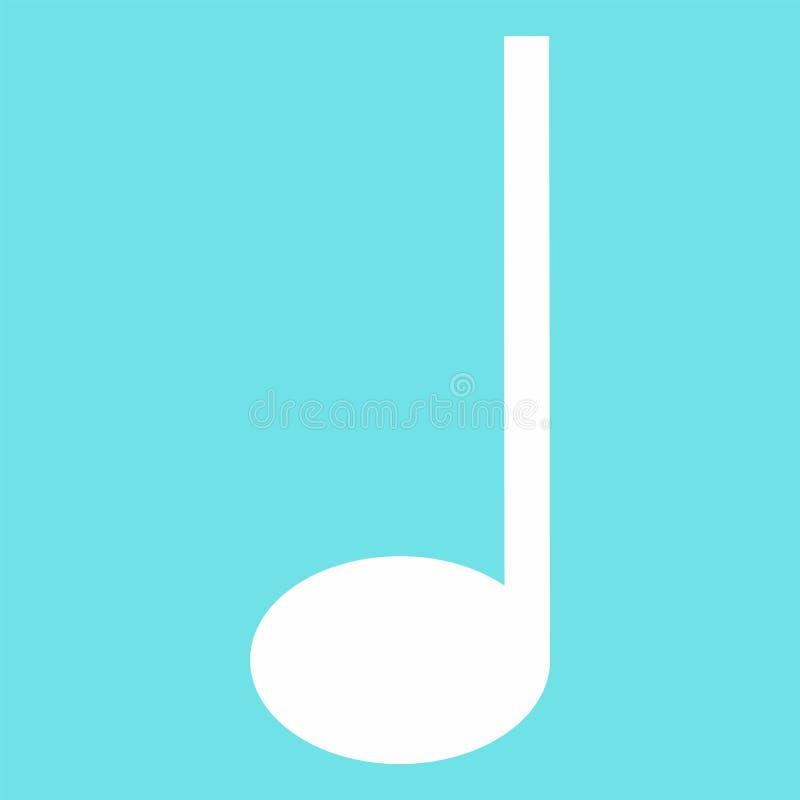 Viertelmusikanmerkungsikone, flache Art vektor abbildung